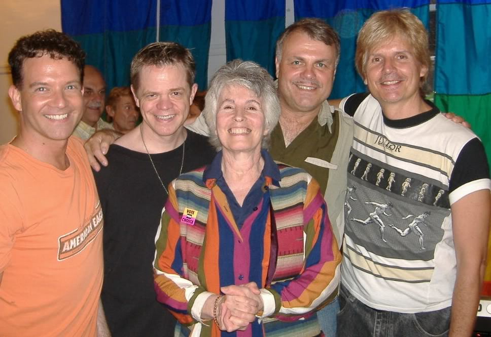 Wolfgang Busch has also booked musicians for the socials organized by SAGE; at far right is Robert Urban, a frequent collaborator on projects with Wolfgang.