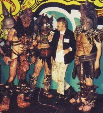 Richmond, Virginia-based band GWAR interviewed by Wolfgang Busch at L'Amour East in Brooklyn in the 1990s.