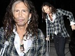 Wobble this way! A disheveled Steven Tyler hobbles on crutch to grab dinner with American Idol buddy Randy Jackson
