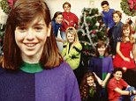 Blast from the past: Alyson Hannigan, front and center, and Brian Austin Green, upper left, show their awkward teens years in a 1990 holiday shoot from 16 Magazine