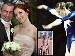 Trampolinist who broke her neck walks down the isle and has a baby after husband helps her to recover
