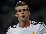 Opener: Real Madrid's Gareth Bale celebrates his first goal at the Bernabeu to put his side ahead