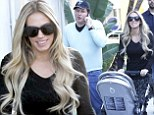 This is the good life! Petra Ecclestone enjoys lunch at Spago and then a high-end shopping spree with her family