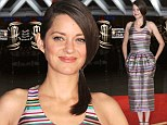 Stars and stripes! Oscar winner Marion Cotillard dazzles in Dior as the French film siren the red carpet at Marrakech film festival
