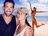 Jesse Metcalfe's fiance Cara Santana proves she didn't overindulge this Thanksgiving by prancing in a bikini as they celebrate the holiday weekend in Mexico