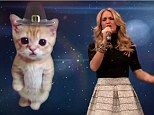 I cooked you butterball: Carrie Underwood performed part of a holiday medley on Jimmy Fallon on Thursday night to the tune of Miley Cyrus's Wrecking Ball