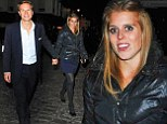 Princess Beatrice sticks to her new favourite colour combo as she wears navy and black for date night with Dave Clark