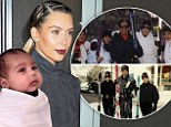 'I'm extra thankful for my baby girl': Kim Kardashian celebrates Thanksgiving with tribute to daughter North, fiancé Kanye West and late father Robert