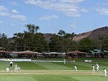 Setting: England drew their tour match in Alice Springs ahead of the second Ashes Test