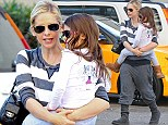 Like mother, like daughter: Sarah Michelle Gellar and her little girl Charlotte matching in tracksuit bottoms and Ugg boots for a stop at Starbucks in Los Angeles, California on Thursday