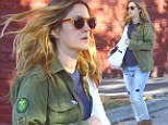A dedicated mama! Pregnant Drew Barrymore is pretty and makeup-free carries her devoted yoga regimen through Thanksgiving
