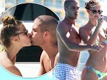 Some like it yacht! The Wanted's Max George gets frisky with bikini-clad girlfriend Nina Agdal as they set out to sea