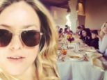 So where's your husband? Vegas bride Francesca Eastwood celebrates Thanksgiving with her family