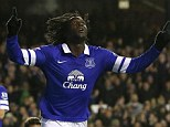 Four thought: Romelu Lukaku scores Everton's fourth goal against Stoke, which takes them into the top four