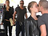 All good things must come to an end! The Wanted's Max George and Nina Agdal share one last kiss before they farewell luxurious Barbados resort