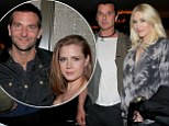 The leading ladies! Amy Adams shows some skin in a strapless dress as she cuddles up to Bradley Cooper while Gwen Stefani wears plunging neckline with husband Gavin Rossdale on her arm
