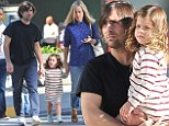 Jason Schwartzman and wife take daughter Marlowe to see Yo Gabba Gabba Live in L.A.