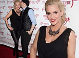 She's got it made! Jenny McCarthy gets a kiss from her honey Donnie Wahlberg as they attend party in Las Vegas