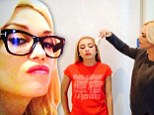 She's no big spender! Gwen Stefani does her niece Madeline's makeup for at home Harajuku Lovers photoshoot