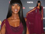 She's a Greek goddess! Naomi Campbell wows in Grecian-style burgundy gown at launch of The Face Australia