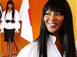 Always in style: Naomi Campbell cut a conservative yet stylish figure as she was honoured at a Japanese Tea ceremony in Sydney, Australia on Friday
