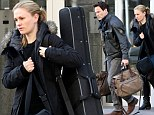 The Sound of Music! Stephen Moyer and Anna Paquin step out in New York City with his guitar