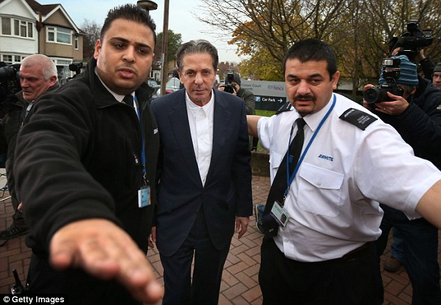 Appearance: Mr Saatchi is seen arriving at Isleworth Crown Court where he will tomorrow give evidence against Francesca and Elisabetta Grillo