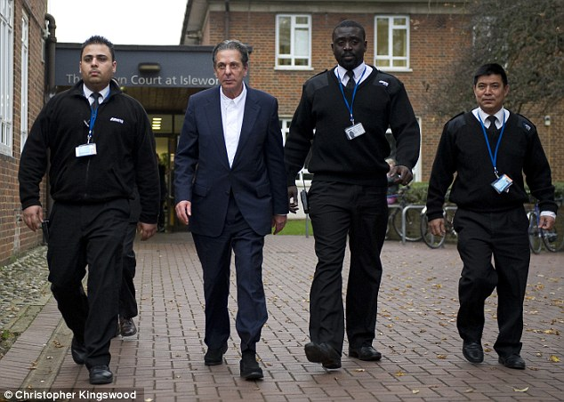 Departure: Charles Saatchi leaves the court this afternoon after being discharged by the judge. He will now give evidence tomorrow