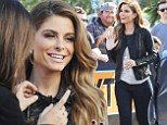 Ready for her closeup! Maria Menounos gets her hair and makeup done to film Extra!