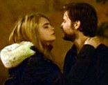 First kiss? Daniel Brühl and Cara Delevingne get close on the set of The Face Of An Angel