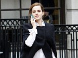 Retail therapy: A stylish Emma Watson shopping around Bond Street in central London