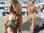 Playboy Cyber Girl Dani Mathers poses on Venice beach