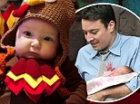 Birds of a feather! Jimmy Fallon's baby Winnie is festive for Thanksgiving in turkey outfit