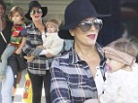 Kris Jenner spends time with Penelope and Mason taking them to the Leggo store with the nanny in Studio City