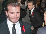 David Beckham attends The Class Of '92 after-party in London on Sunday evening