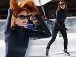 Letting her hair down! Marcia Cross leaves uptight Bree Van de Kamp far behind... to cut loose on ice skates with family