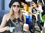 Just chilling! Selma Blair treats her son Arthur to a frozen dessert during trip to the Farmer's Market
