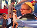 It's not exactly the Batmobile! Ben Affleck's daughter takes the wheel for a dodgem race at Disneyland for Violet's birthday