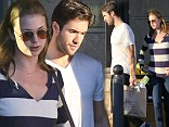 Just your average Sunday: Emily VanCamp and her boyfriend Josh Bowman went grocery shopping at Gelson's on Los Feliz, California after spending time apart