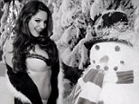 Lots of love: Kelly Brook appears on Love Magazine's advent calendar on December 2, and sings on the short video