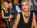Jenny McCarthy enjoys a night out with boyfriend Donnie Wahlberg at her after-party on Saturday evening