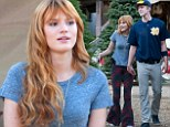 'Christmas in his heart': Bella Thorne gets the romantic treatment from boyfriend Tristan Klier while tree shopping