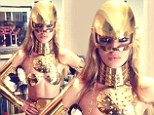 'Being a robot at work': Rock-chick Georgia May Jagger channels her inner C-3PO in wacky metal outfit