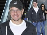 A quick trip did the trick! Matt Damon and wife Luciana Barroso hold hands while walking through LAX after a short Las Vegas getaway