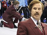 Stay classy Canada! Will Ferrell helps open Olympic curling trials while posing as his Anchorman alter-ego Ron Burgundy