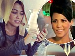 Thanks a bunch Scott! Disick posts unflattering photo of make-up free Kourtney Kardashian with napkin over her hair