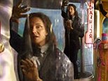 Out of sight, out of mind! Bruce Jenner imprisoned in a glass tube in the Kardashians' most bizarre Christmas card yet