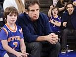 Ben Stiller and son watch New York Knicks