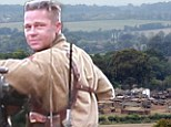 Brad Pitt thanks sleepy Oxfordshire village for letting him film war movie Fury there... by paying them £1MILLION