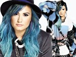 'I don't want to be remembered as the Disney chick who ended up in rehab': Demi Lovato talks about her troubled past as her blue hair gets first magazine cover